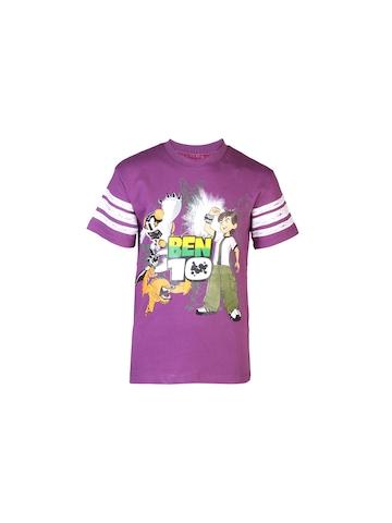 Ben 10 Boys Crew Purple T-shirt