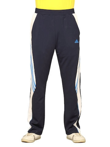 Adidas Men's Navy Blue White Track Pant