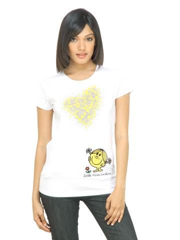 Little Miss Women Sunshine White T-shirt