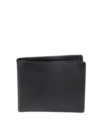 Arrow Men Black Leather Wallet