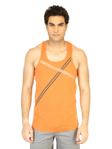 Facit Men Fitness Orange Innerwear Vest
