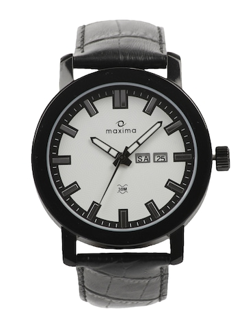 Maxima Attivo Men White Dial Watch