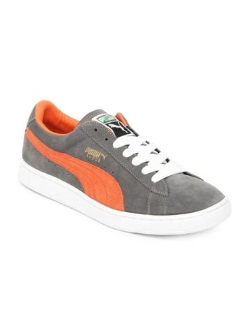 Puma Unisex Grey Suede Archive Eco Shoes