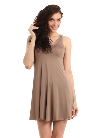 Enamor Women Brown Nightdress