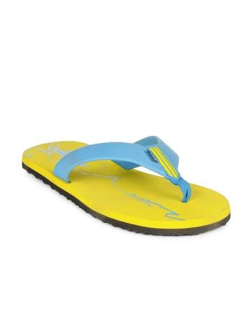 Adidas Men Yellow Lucent Scribble Slide Flip Flops