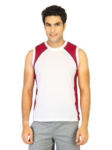 Hanes Men Sleeveless Crew White Innerwear T-shirt