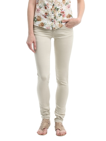 Kraus Jeans Women Beige Trousers