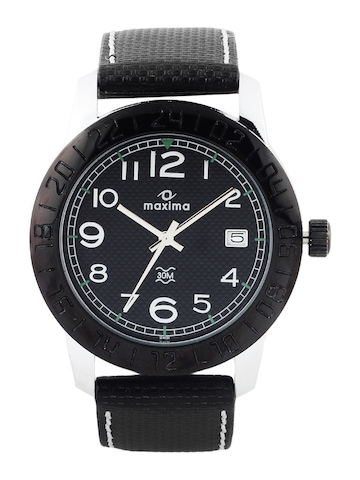 Maxima Attivo Men Black Dial Watch