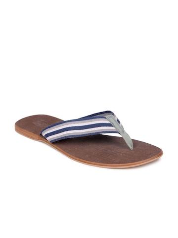 Estd. 1977 Men Navy Blue & Brown Sandals