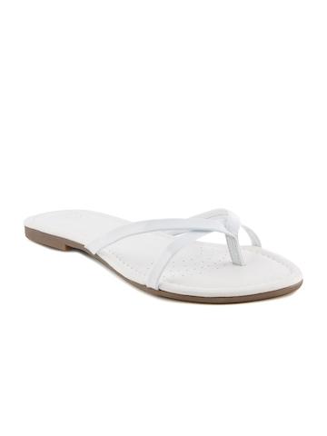 Clarks Women Spice White Patent White Flats