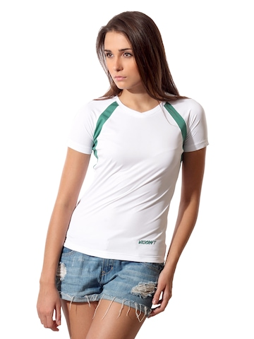 Wildcraft Women White T-shirt