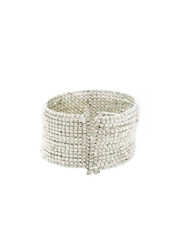 Pitaraa Silver Omelette Thin Bracelet