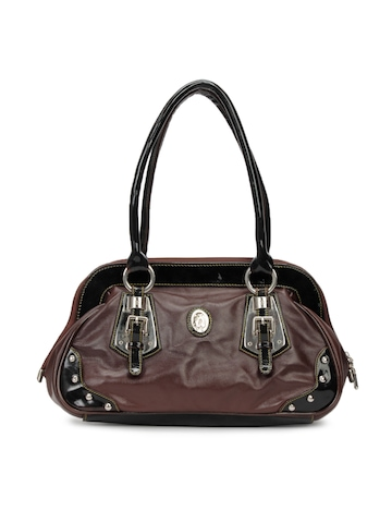 Spice Art Women Leatherette Brown Handbag