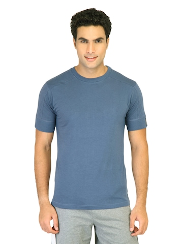 Hanes Men Blue Crew Duo Dry Body Fit Crew T-shirt