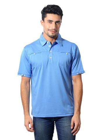 Adidas Men Polo Blue T-Shirt