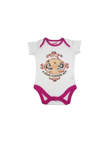 Madagascar3 Infant Girls White Snapsuit Romper