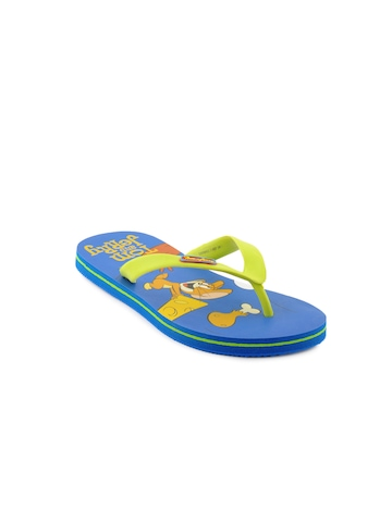 Warner Bros Kids Unisex TJ Hit & Chase Flops Blue Slippers