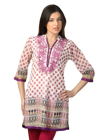 Aneri Women Cream Kurta
