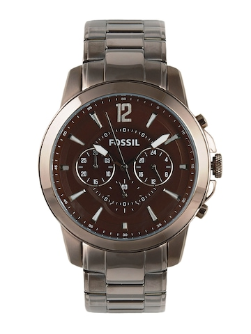 Fossil Men Brown Dial Chronograph Watch FS4608