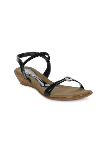 Portia Women Black & Brown Sandals