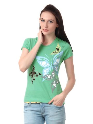 Myntra Women Green T-shirt