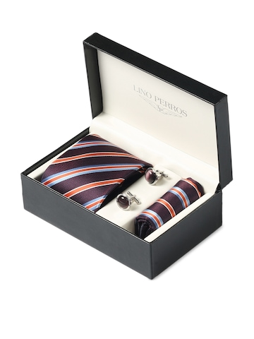 Lino Perros Men Formal Purple Accessory Gift Set