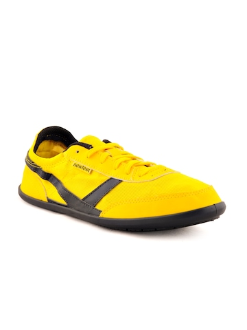Newfeel Unisex Sports Yellow Sports Shoes