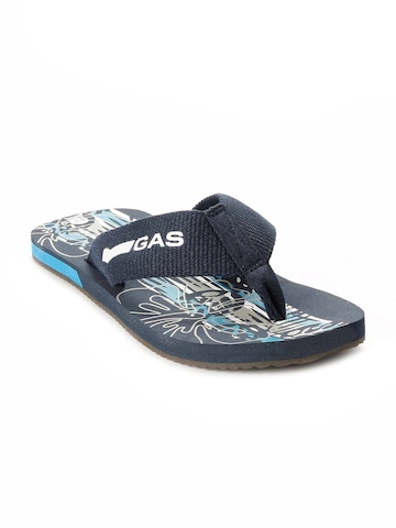 Gas Men Navy Blue Flip Flops