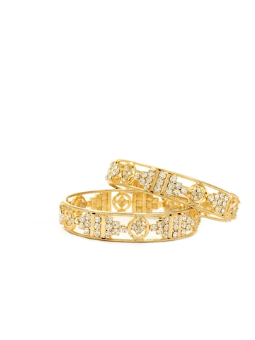 Royal Diadem Set of 2 Golden Bangles
