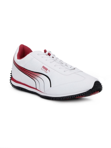 Puma Men Silly Point White & Red Sports Shoes