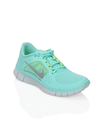 Nike Women Free Run+ 3 Green Sports Shoes