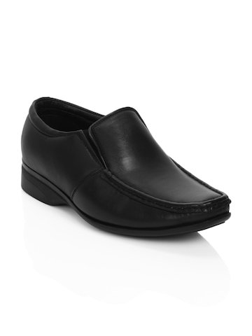 Fortune Men Black Formal Shoes