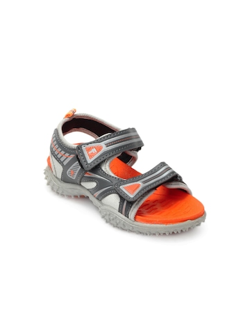 Footfun Kids Unisex Grey Sandals