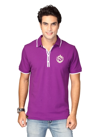 Puma Men's Polo Purple T-shirt
