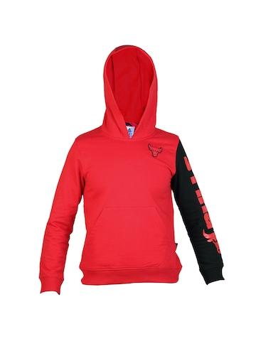 Adidas Kids Boys Solid Red Sweatshirts