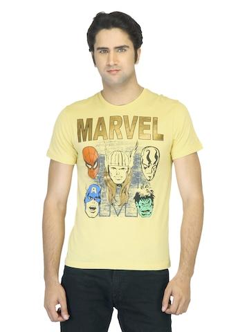 Marvel Men Printed Yellow T-shirt