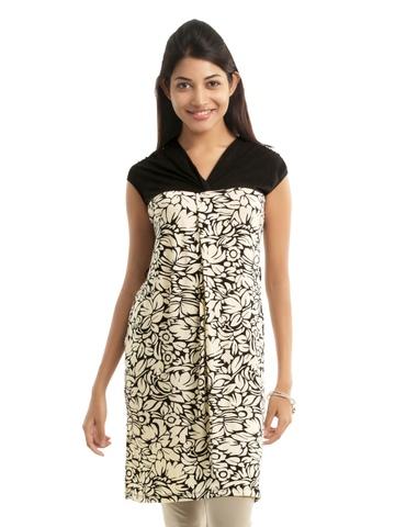 109F Women Black & Cream Dress