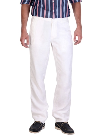 Arrow Sport Men White Trousers