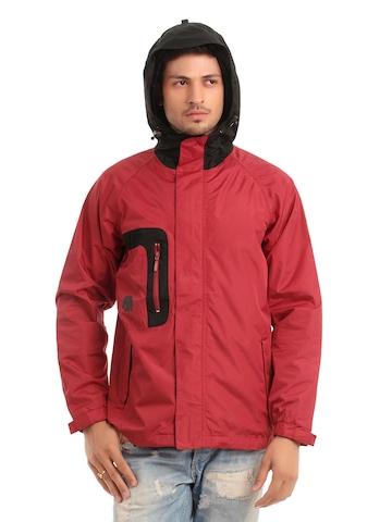 Just Natural Unisex Red Rain Jacket