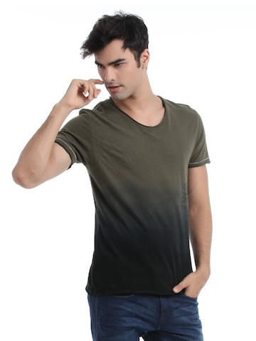 Adidas Men Olive Printed T-shirt