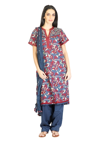 BIBA Women Ethnic Blue Salwar Suit