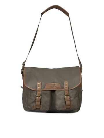 French Connection Men Khaki Handbag