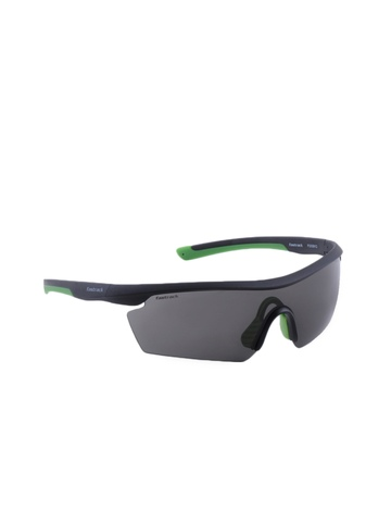 Fastrack Men Black UV Protected Sporty Wrap Sunglasses