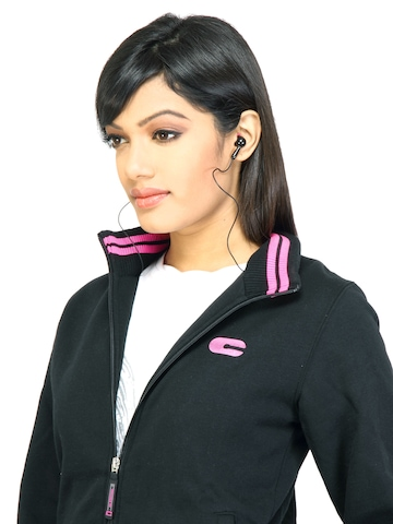 C Vox Women Solid 1354 Black Jacket