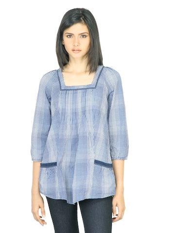Wrangler Women Shadow Blue Top