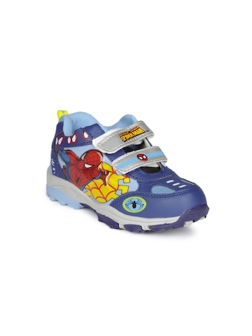 Marvel Boys Blue Web Spider Shoes
