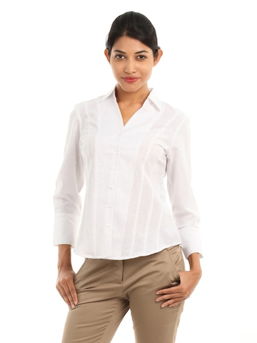 Wills Lifestyle Women Eliza White Shirt