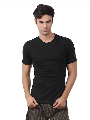 Chromozome Men Black Innerwear T-shirt
