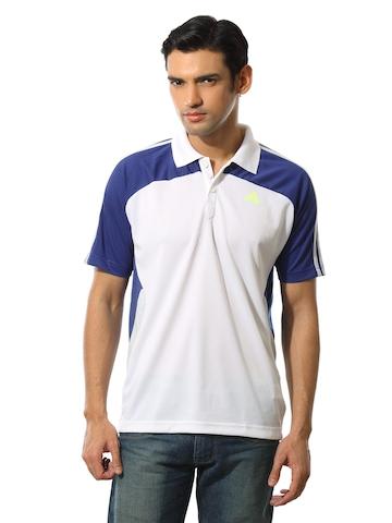 Adidas Men Polo White T-shirt