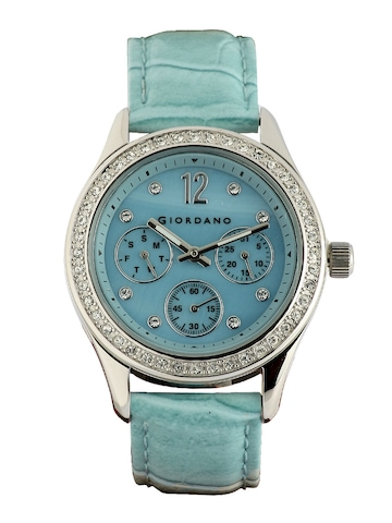 Giordano Women Chronograph Blue Dial Watch